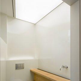 wc, spanplafond